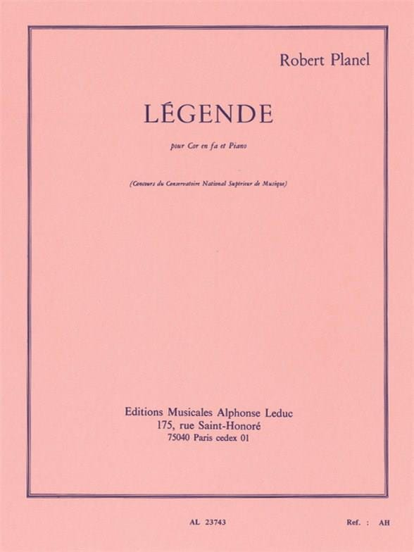Robert Planel - Legend - Partition - di-arezzo.com
