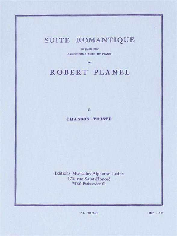 Robert Planel - Romantic Suite Volume 3 - Sad Song - Partition - di-arezzo.com