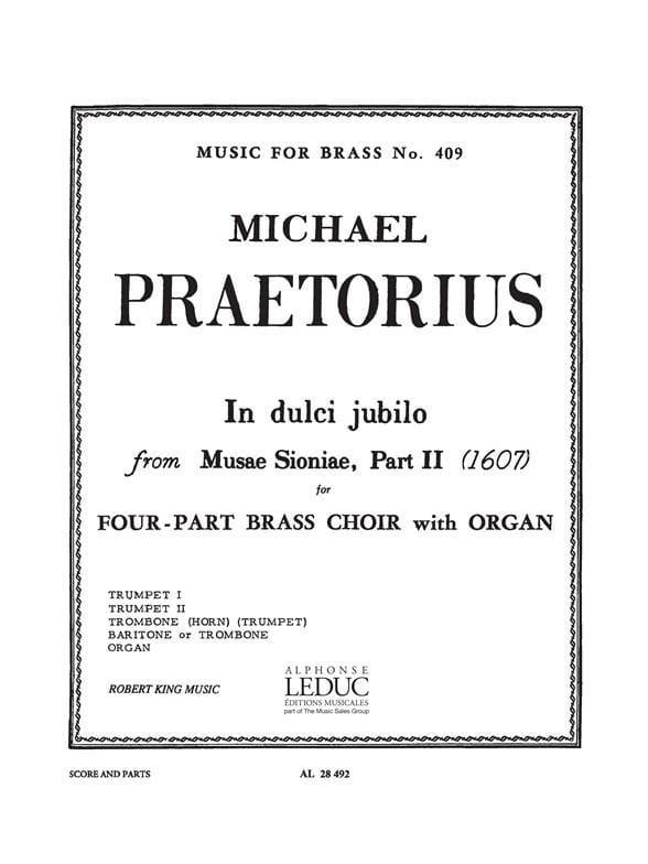 In Dulci Jubilo - Michael Praetorius - Partition - laflutedepan.com