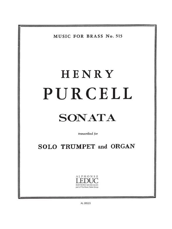 Henry Purcell - Sonata For Trumpet And Organ - Partition - di-arezzo.com