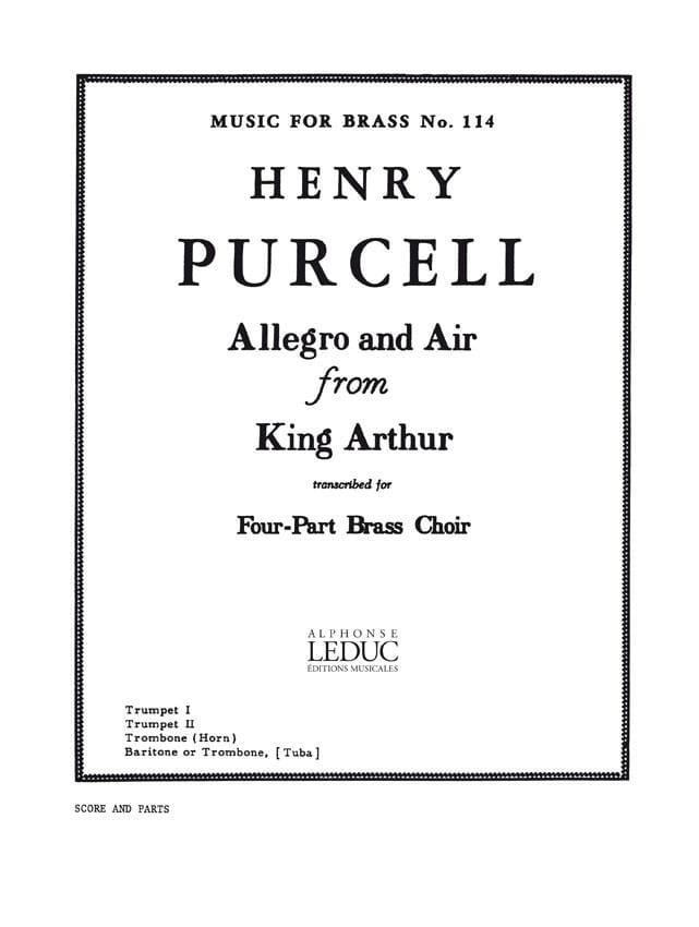 Henry Purcell - Allegro und Luft von König Arthur - Partition - di-arezzo.de