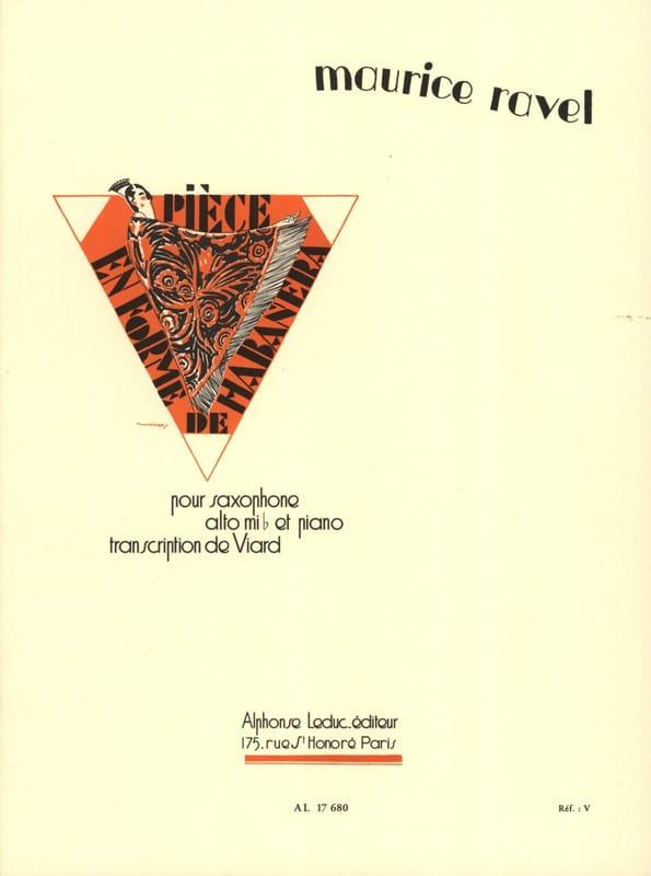 Pièce En Forme de Habanera - RAVEL - Partition - laflutedepan.com