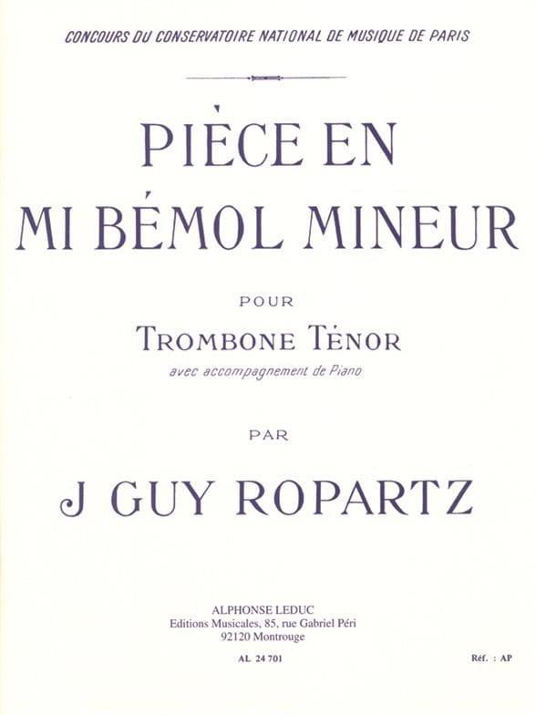 Pièce En Mib Mineur - J.Guy Ropartz - Partition - laflutedepan.com