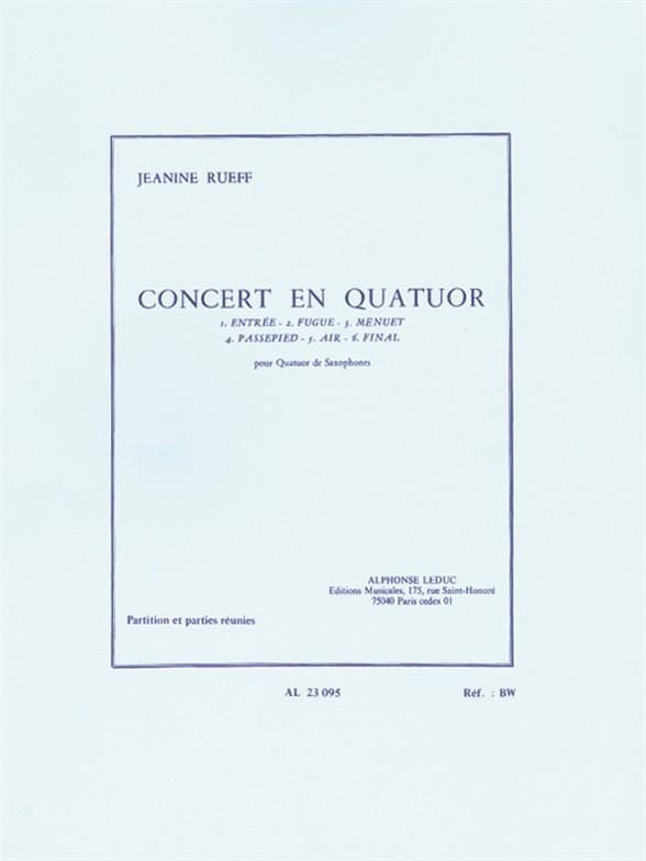 Jeanine Rueff - Concert In Quartet - Partition - di-arezzo.co.uk