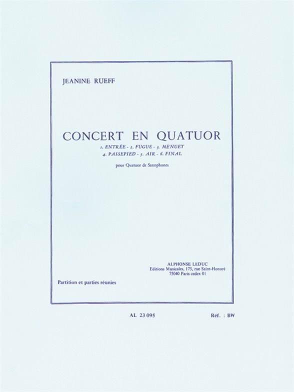 Jeanine Rueff - Concert In Quartet - Partition - di-arezzo.com