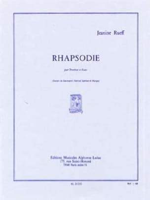 Jeanine Rueff - Rhapsody - Partition - di-arezzo.co.uk