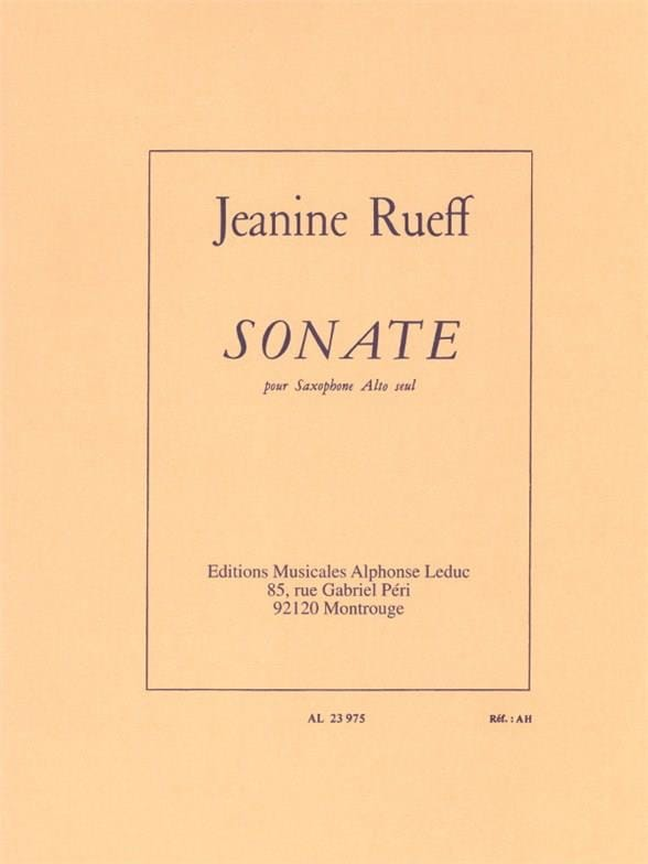Jeanine Rueff - Sonata - Partition - di-arezzo.co.uk