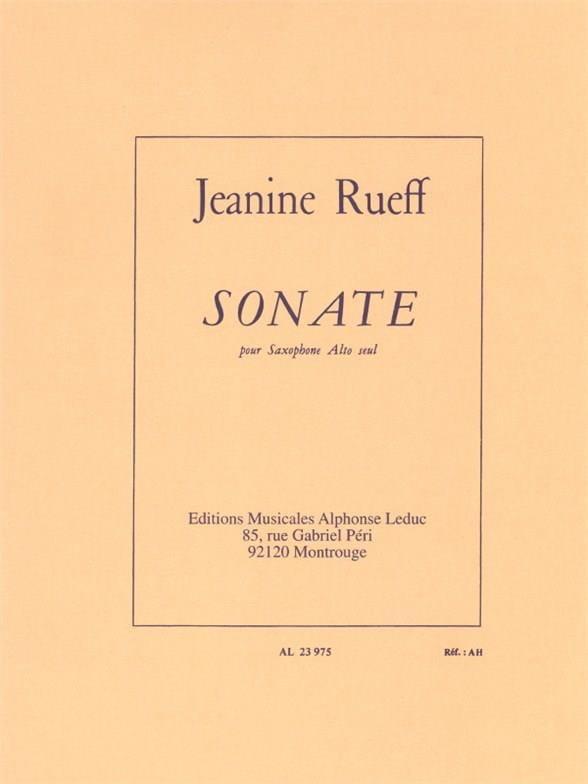 Jeanine Rueff - Sonata - Partition - di-arezzo.com