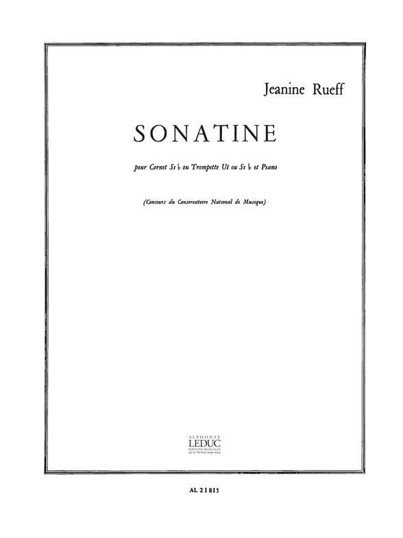 Jeanine Rueff - Sonatine - Partition - di-arezzo.com