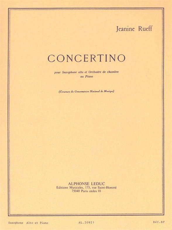 Jeanine Rueff - Concertino Opus 17 - Partition - di-arezzo.co.uk