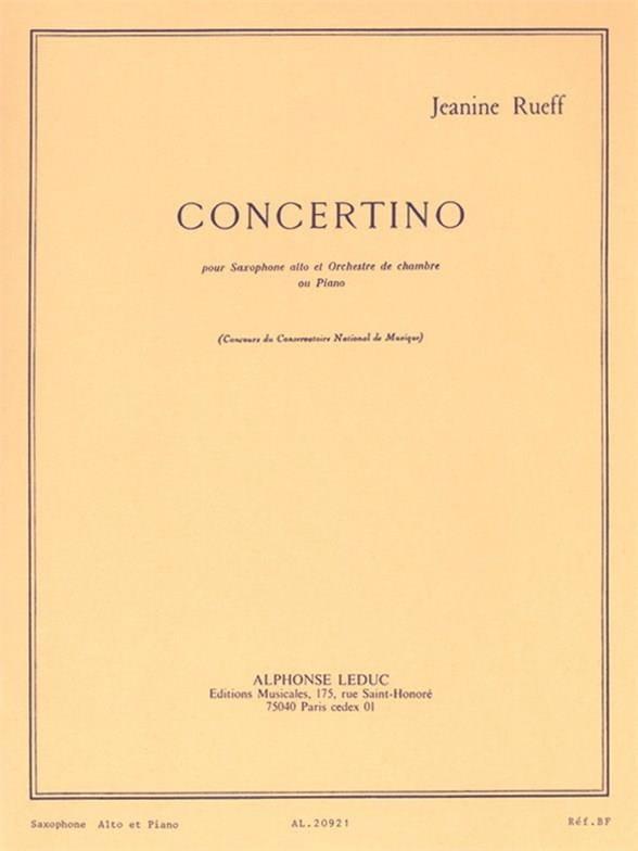 Jeanine Rueff - Concertino Opus 17 - Partition - di-arezzo.es