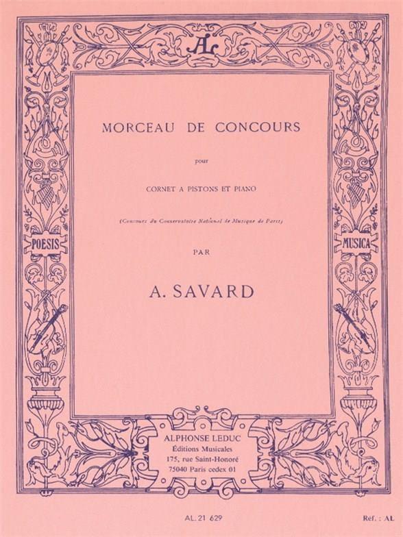 Morceau de Concours - A. Savard - Partition - laflutedepan.com
