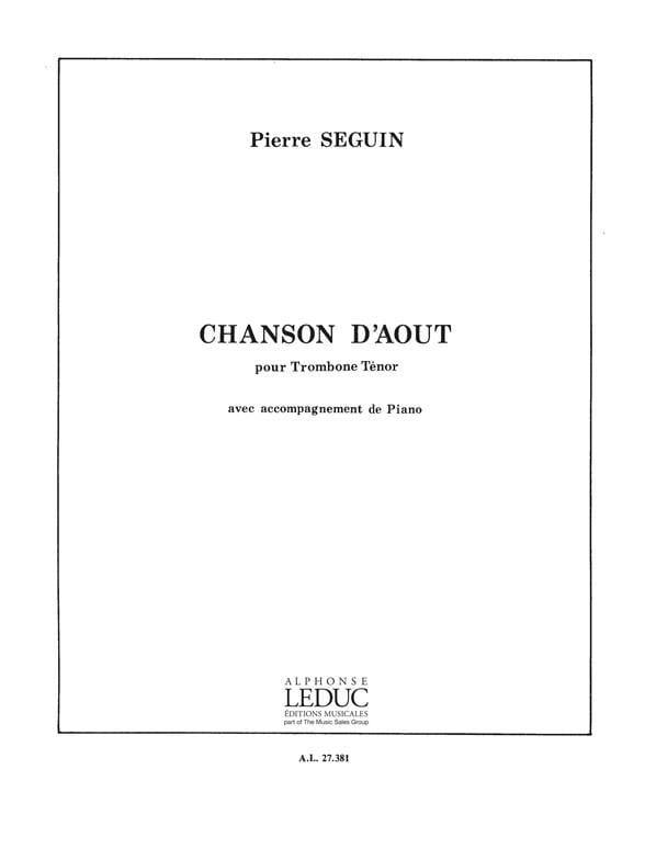 Chanson D' Août - Pierre Seguin - Partition - laflutedepan.com