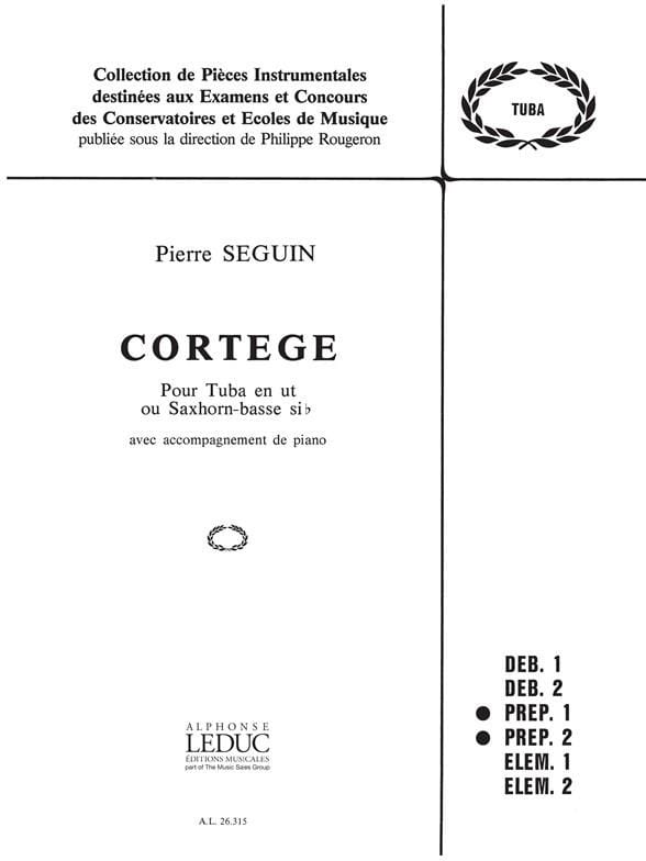 Cortège - Pierre Seguin - Partition - Tuba - laflutedepan.com