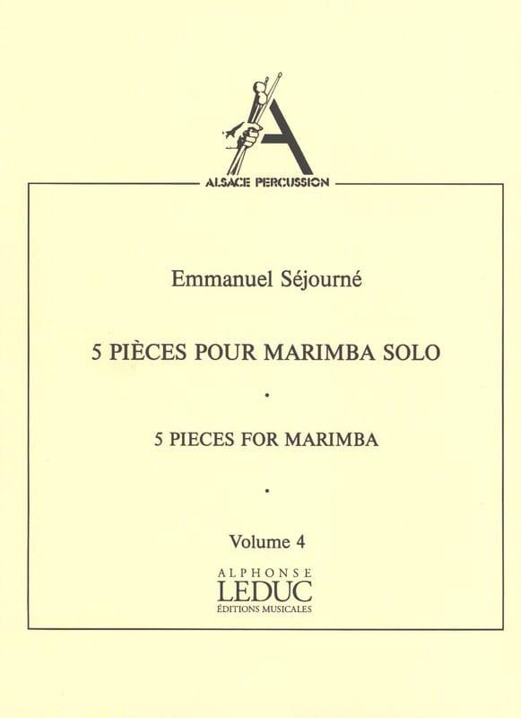 5 Pièces Pour Marimba Solo Volume 4 - laflutedepan.com