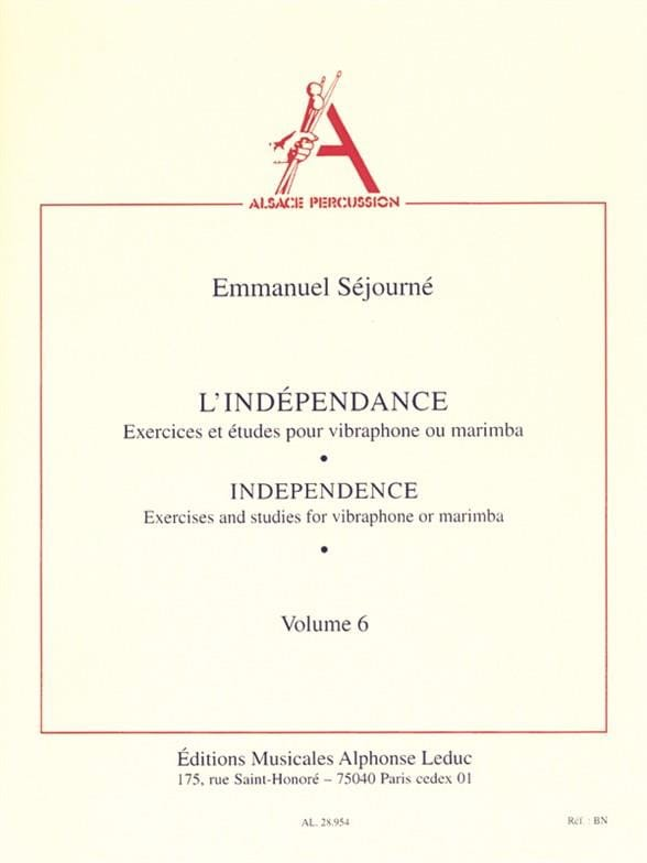 Emmanuel Séjourné - Independence Volume 6 - Partition - di-arezzo.co.uk