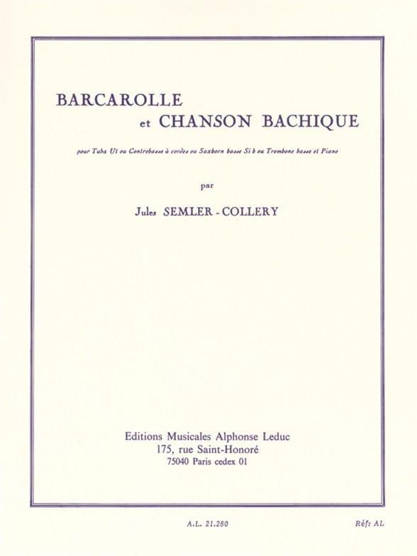 Barcarolle et Chanson Bachique - laflutedepan.com