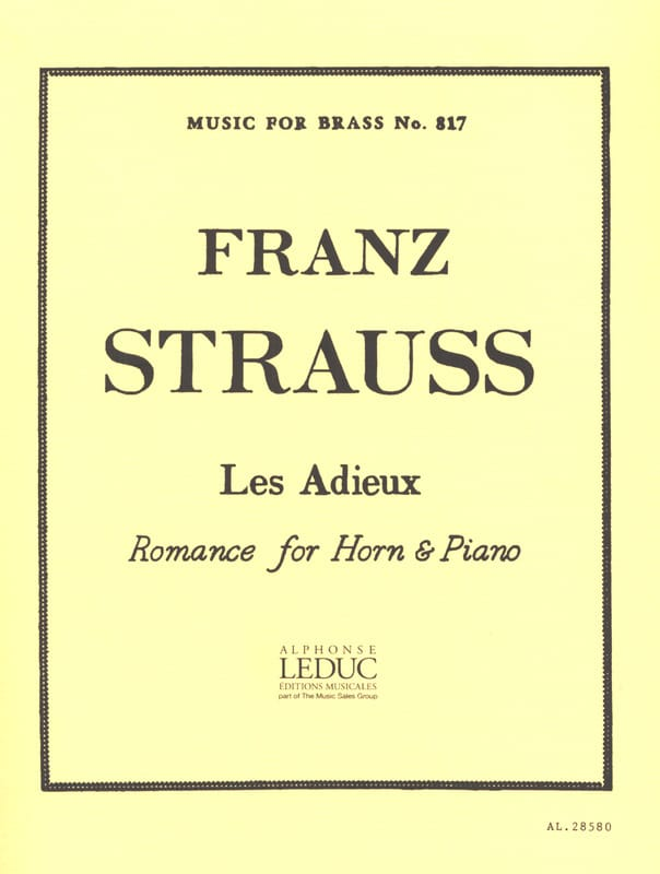 Franz Strauss - Goodbyes - Partition - di-arezzo.co.uk