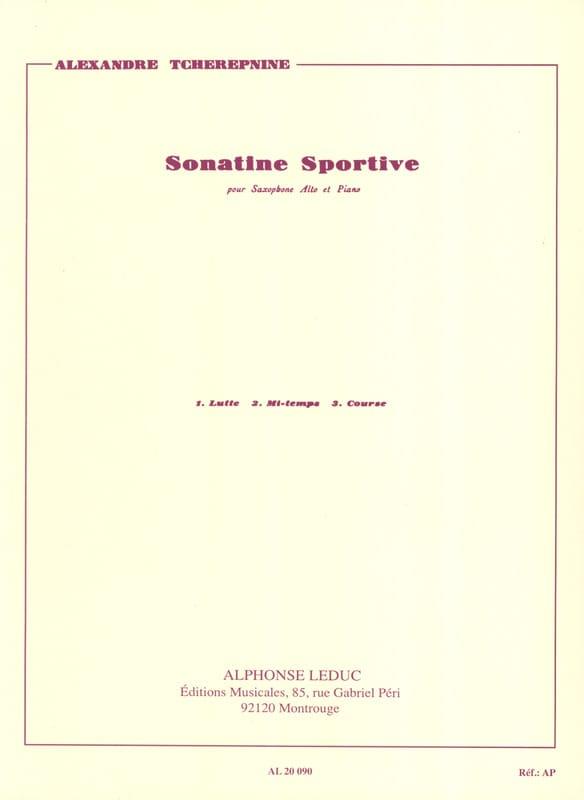 Alexander Tcherepnin - Sporty Sonatine - Partition - di-arezzo.com
