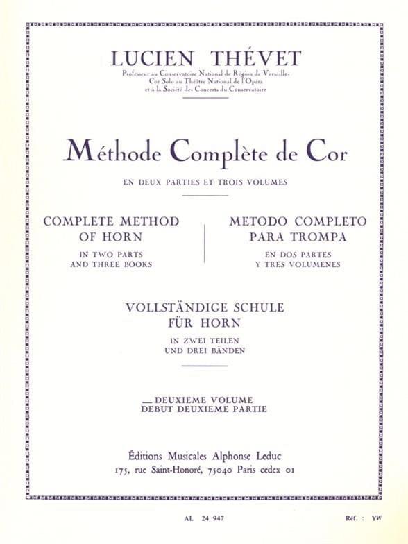 Lucien Thévet - Complete Method Volume 2 - Partition - di-arezzo.com