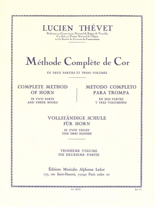 Lucien Thévet - Complete Method Volume 3 - Partition - di-arezzo.com
