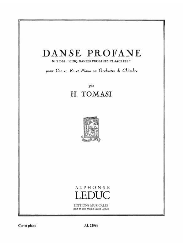 5 Danses Profanes N° 2 - TOMASI - Partition - Cor - laflutedepan.com