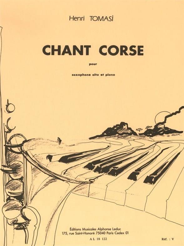 Henri Tomasi - Chant Corse - Partition - di-arezzo.fr