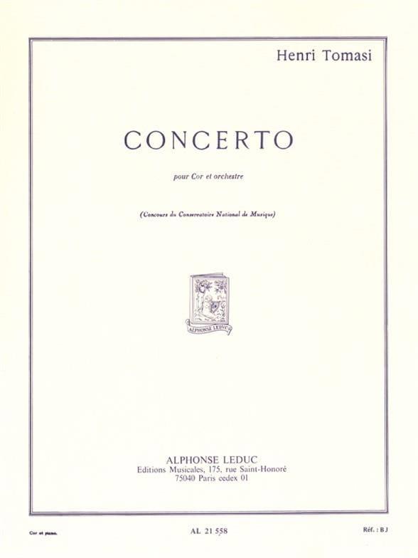 Henri Tomasi - Concerto - Partition - di-arezzo.fr