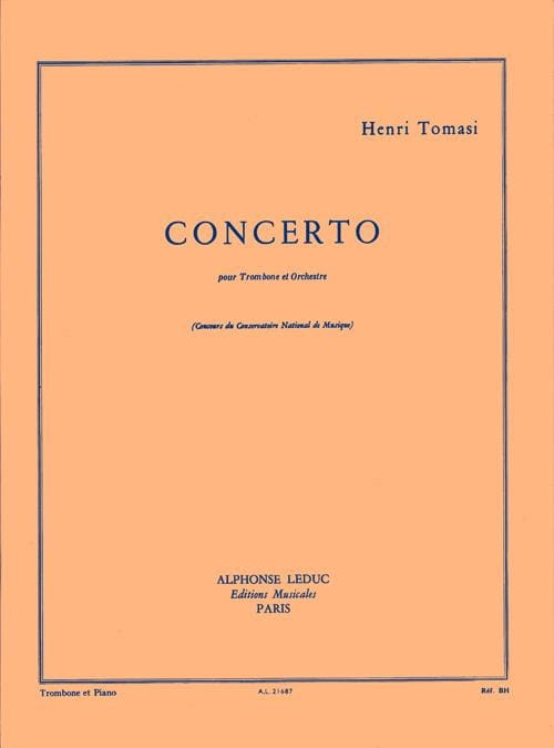 Henri Tomasi - Concerto - Partition - di-arezzo.co.uk