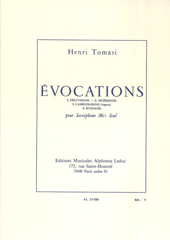 Henri Tomasi - Evocations - Partition - di-arezzo.fr