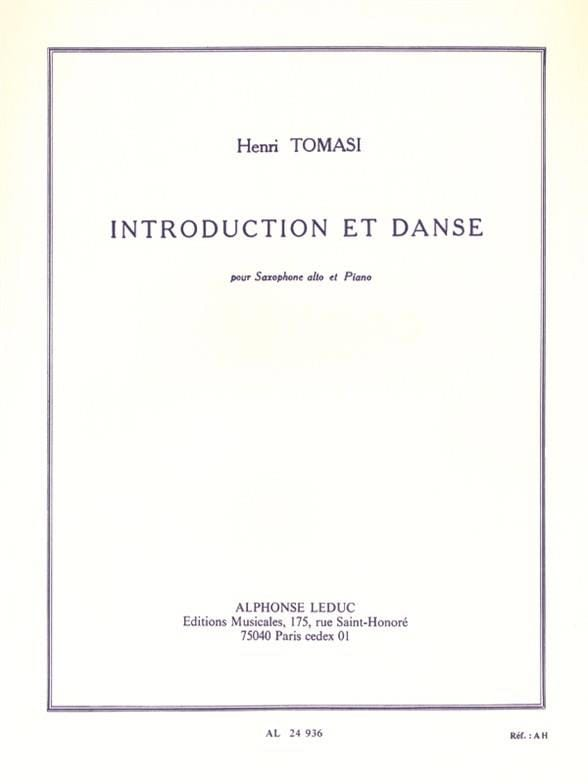 Henri Tomasi - Introduction and Dance - Partition - di-arezzo.co.uk