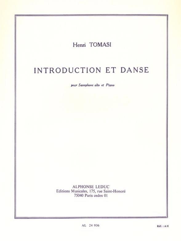 Henri Tomasi - Introduction Et Danse - Partition - di-arezzo.fr