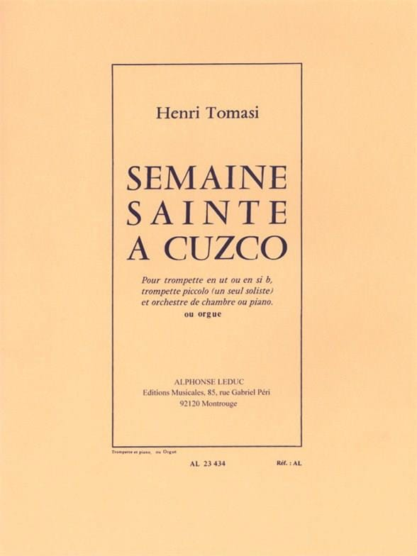 Henri Tomasi - Holy Week in Cuzco - Partition - di-arezzo.com