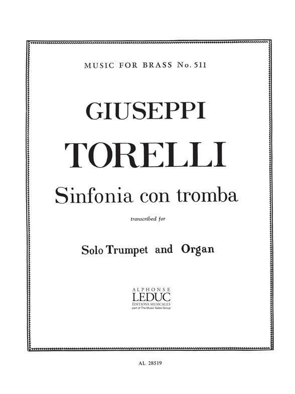 Giuseppe Torelli - Sinfonia Con Tromba - Partition - di-arezzo.es