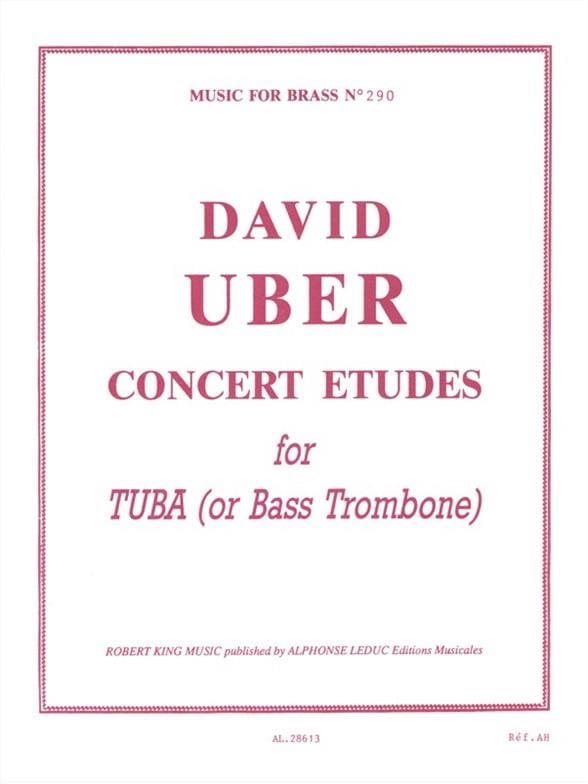 David Uber - Concert Studies For Tuba - Partition - di-arezzo.co.uk