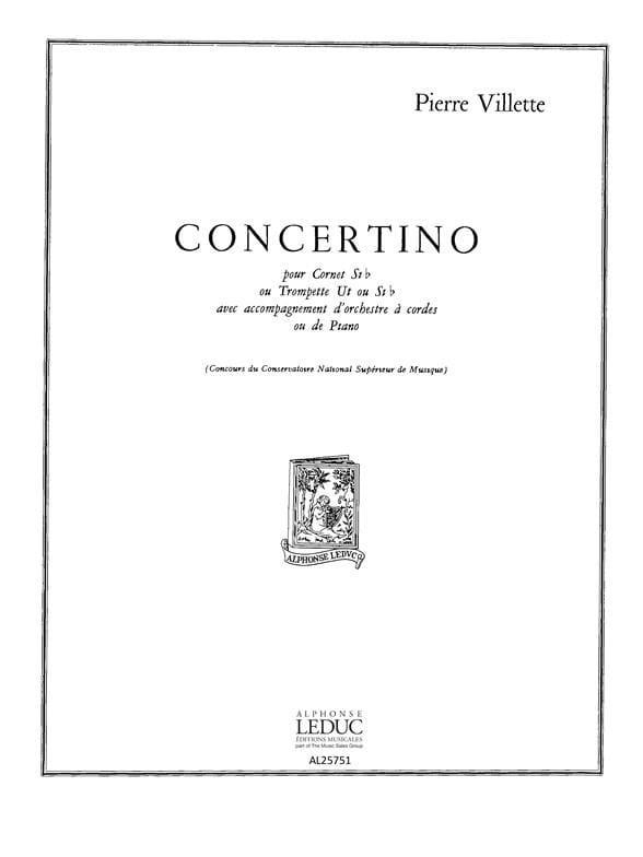 Concertino - Pierre Villette - Partition - laflutedepan.com