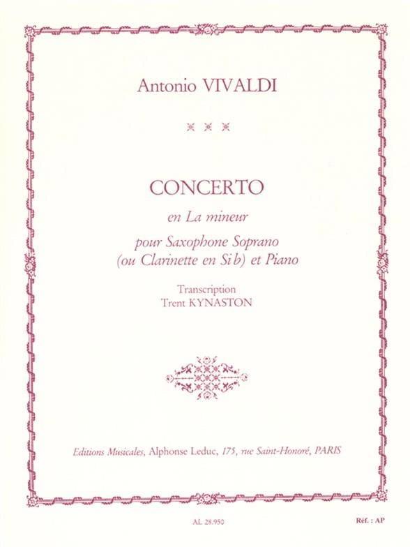 VIVALDI - Concerto in A minor - Partition - di-arezzo.co.uk