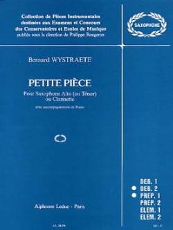 Petite Pièce - Bernard Wystraete - Partition - laflutedepan.com
