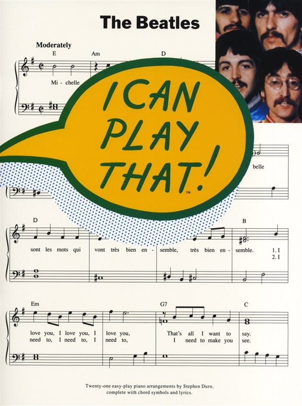 BEATLES - I Can Play That Volume 1 - Partition - di-arezzo.co.uk