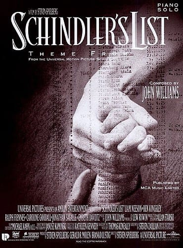 John Williams - Schindlers Liste Thema Klavier Solo - Partition - di-arezzo.de