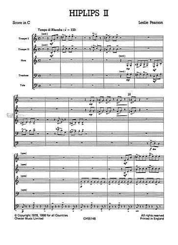 Hiplips 2 - Just Brass N° 31 - Leslie Pearson - laflutedepan.com