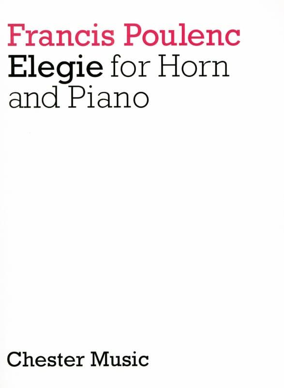 Francis Poulenc - Elegy - Partition - di-arezzo.co.uk