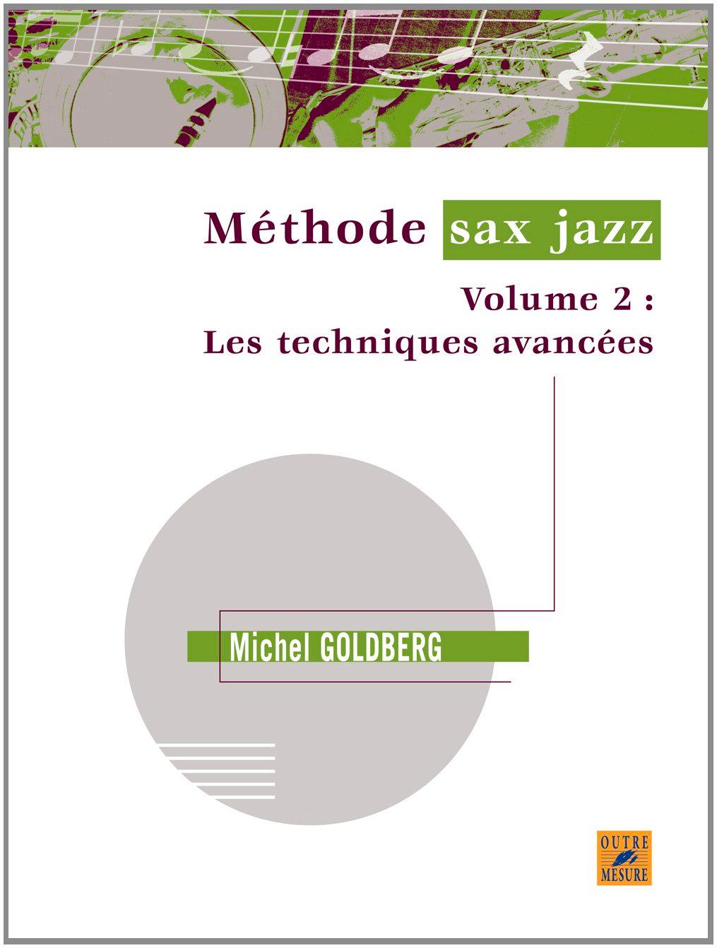 Michel Goldberg - Jazz sax volume 2 method - Partition - di-arezzo.com