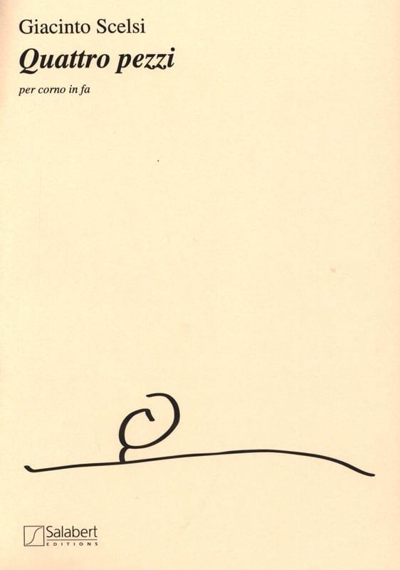 Giacinto Scelsi - Quattro Pezzi - Partition - di-arezzo.co.uk
