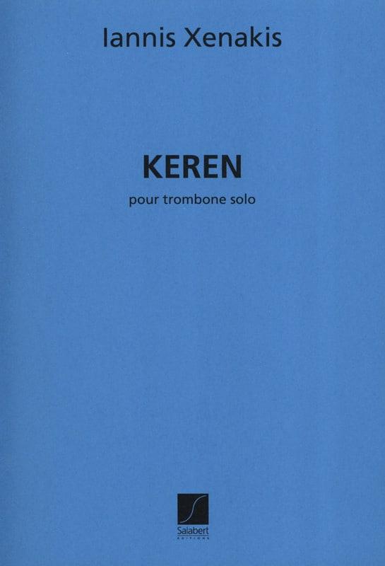 Keren - XENAKIS - Partition - Trombone - laflutedepan.com