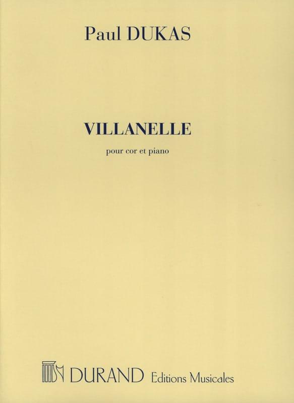 Villanelle - DUKAS - Partition - Cor - laflutedepan.com