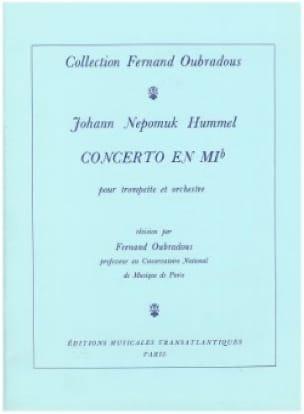 HUMMEL - Concerto In Eb - Partition - di-arezzo.es