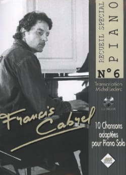 Françis Cabrel - Special Piano Collection N ° 6 - Partition - di-arezzo.co.uk