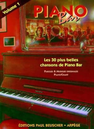 - Piano Bar Volume 1 - Partition - di-arezzo.fr