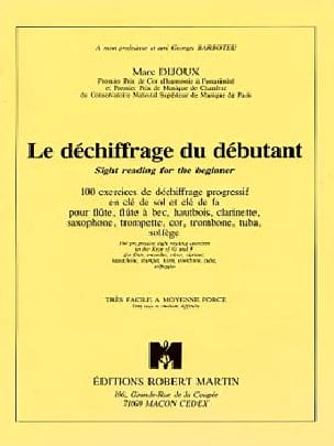 le Déchiffrage du Débutant - Marc Dijoux - laflutedepan.com